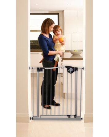 Empire Magnetic Auto Close Security Gate with Smart Stay-Open Feature - Silver color