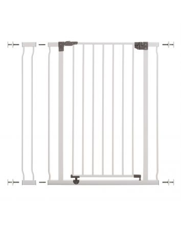 Liberty Extra Tall 29.5-36.5in Auto Close Metal Baby Gate - White