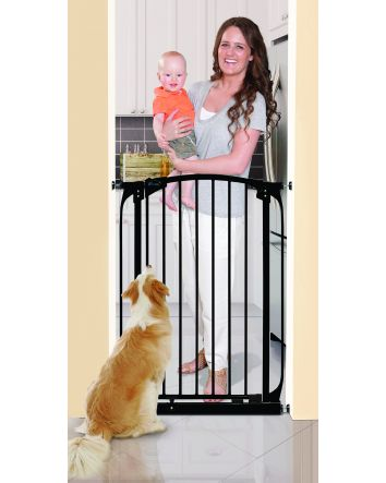 Chelsea Extra Tall 28-32in Auto Close Metal Baby Gate - Black
