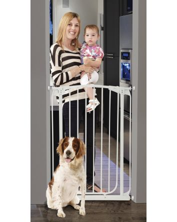 Chelsea Extra Tall 28-32in Auto Close Metal Baby Gate - White
