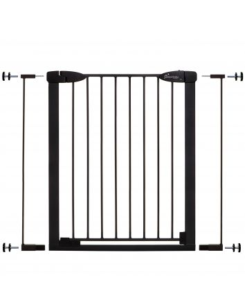 Boston Xtra-Tall Auto-Close Gate with Extensions - Black