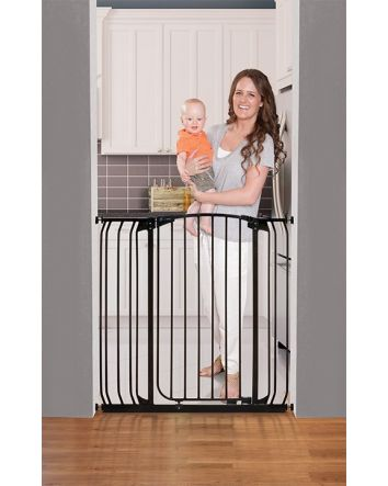 Chelsea Extra Tall 28-42.5in Auto Close Metal Baby Gate - Black