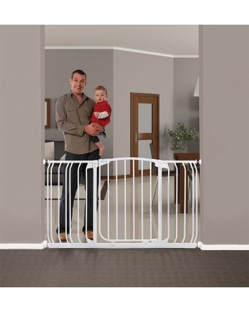 Chelsea Extra Wide 38-53in Auto Close Metal Baby Gate - White