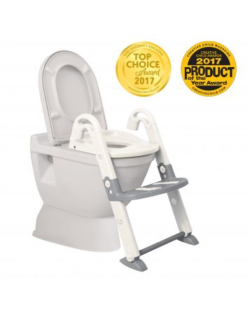 3-IN-1 Toilet Trainer - White / Grey