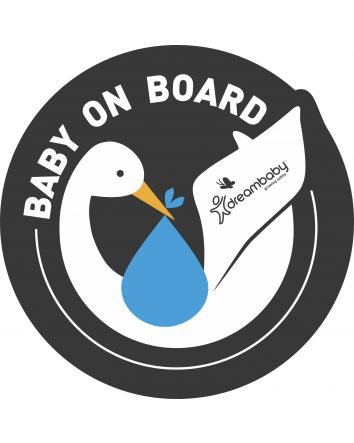 Baby on Board Adhesive Stork 2 Pack - Blue