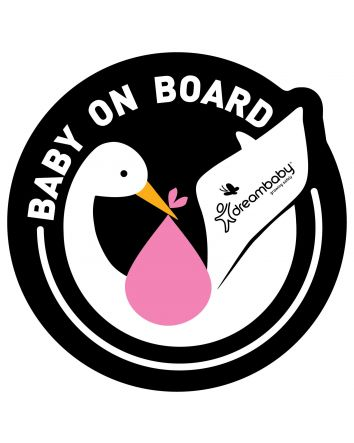 Baby on Board Adhesive Stork 2 Pack - Pink