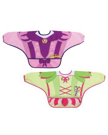 Food & Fun Character Bibs/Smocks with Sleeves 2 pack - Princess & Fairy