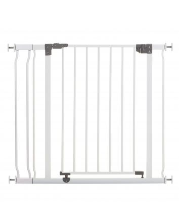 Liberty 29.5-36.5in Auto Close Metal Baby Safety Gate - White