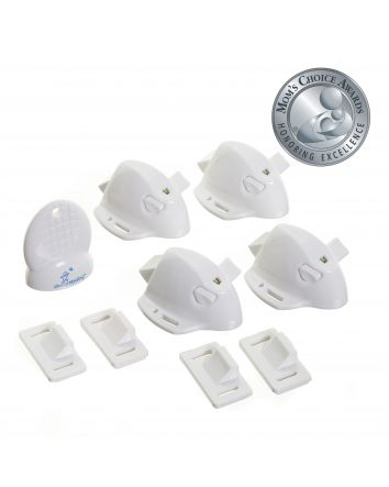 Adhesive Mag Locks®- 4 Locks and 1 Key