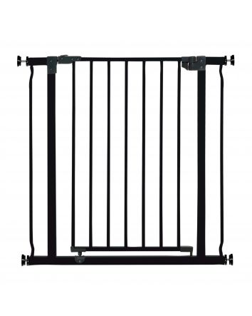 Liberty 29.5-33in Auto Close Metal Baby Safety Gate - Black