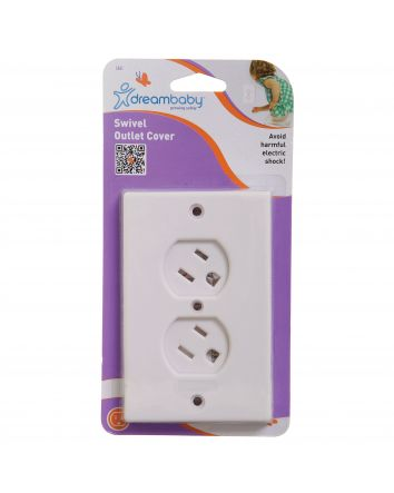 SWIVEL OUTLET COVER WHITE